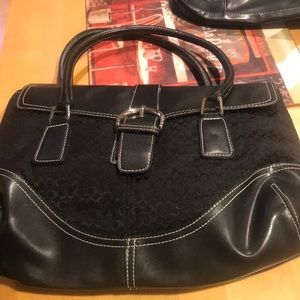 Authentic leather and cloth C for Coach
